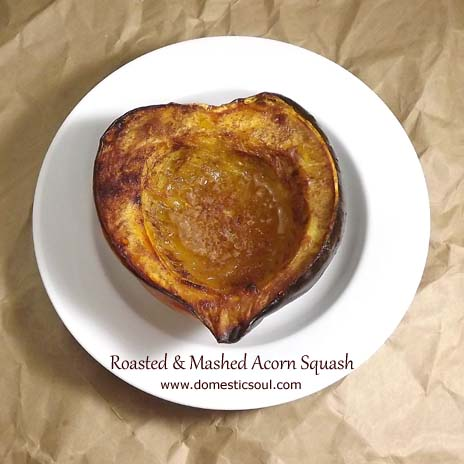 Roasted & Mashed Acorn Squash