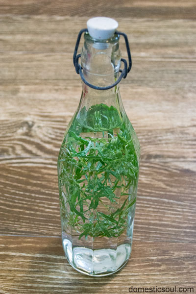 How To Make Tarragon Vinegar from domesticsoul.com