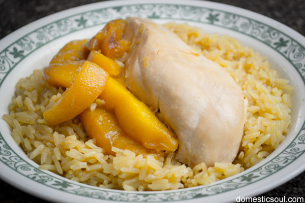 Crock Pot Chicken and Peaches