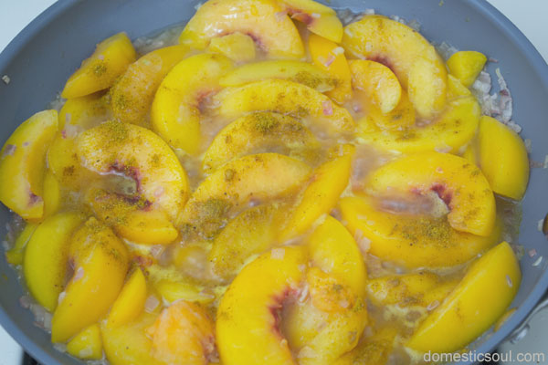 Crock Pot Chicken and Peaches Recipe from domesticsoul.com